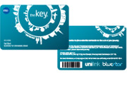 Front and back of the keycard
